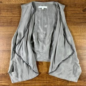 7 For All Mankind Gray Cupro Chain Vest SZ XS